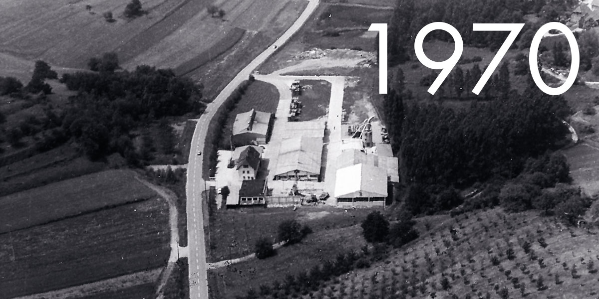 Hiller: Aerial view around 1970