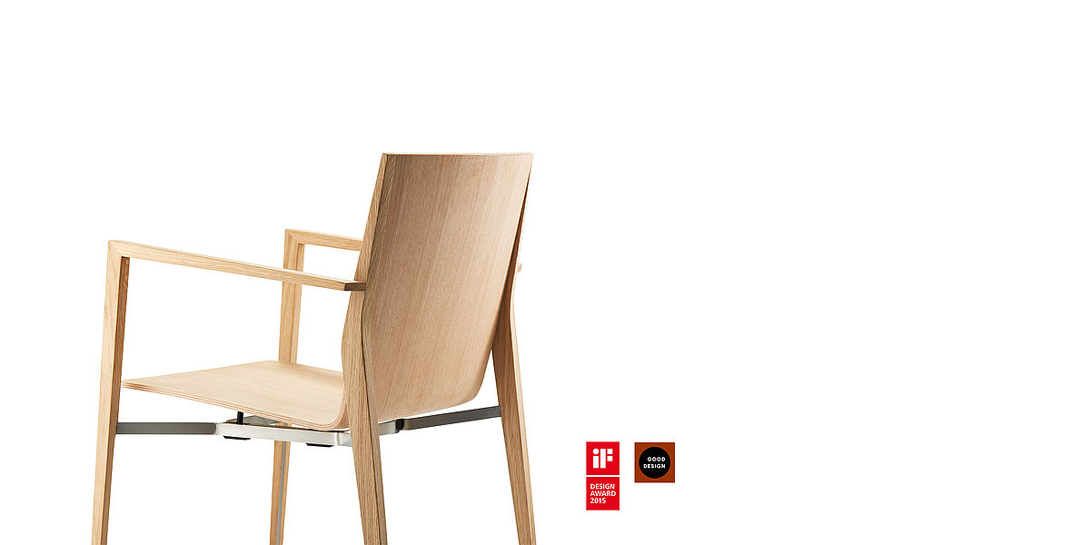BRAUN Lockenhaus | member of SCHNEEWEISS interior | wooden chair tendo by Delugan Meissl Industrial Design