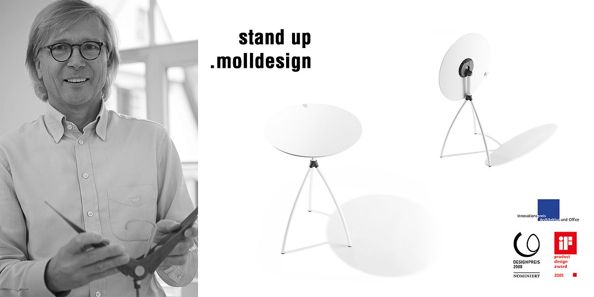 .molldesign | Reiner Moll | folding tables stand up & Mollinaro