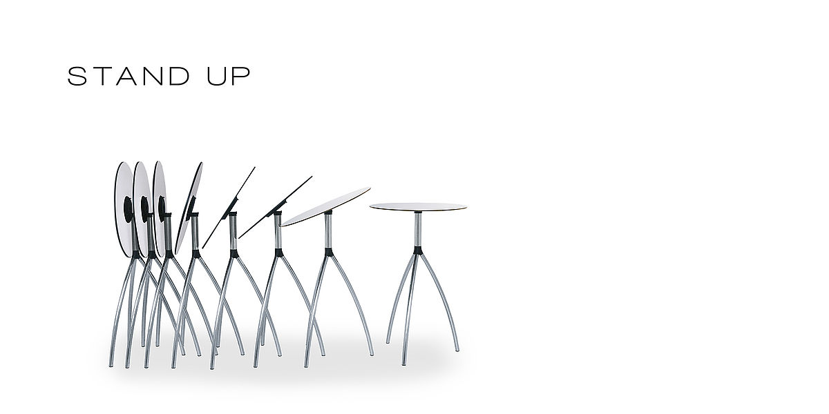 .molldesign | Reiner Moll | folding tables stand up