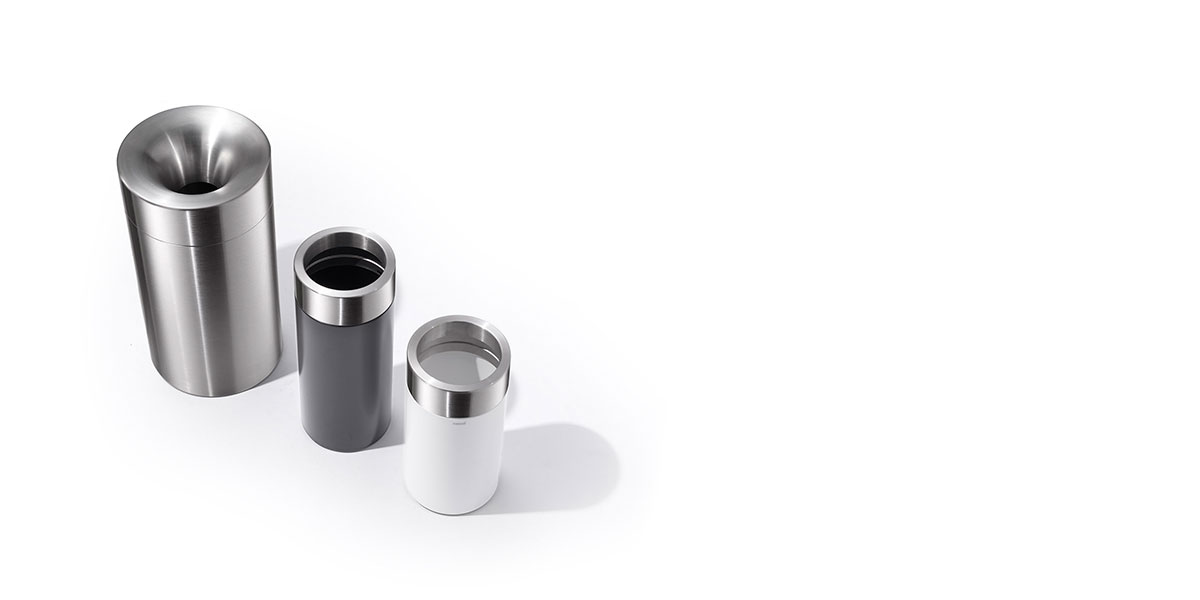 stainless steel receptacles by rosconi